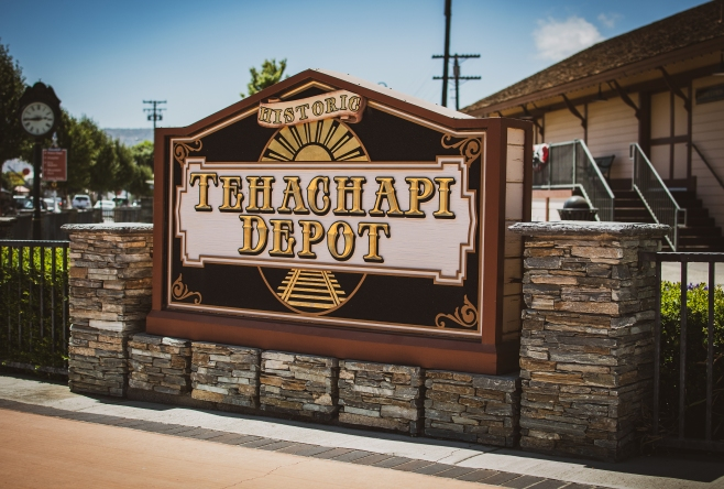 Tehachapi Depot sign